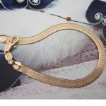 Браслет-змейка унисекс, 20 см (18К наполненное золото)