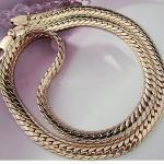 Эффектная цепочка-змейка, 56 см, 68 г